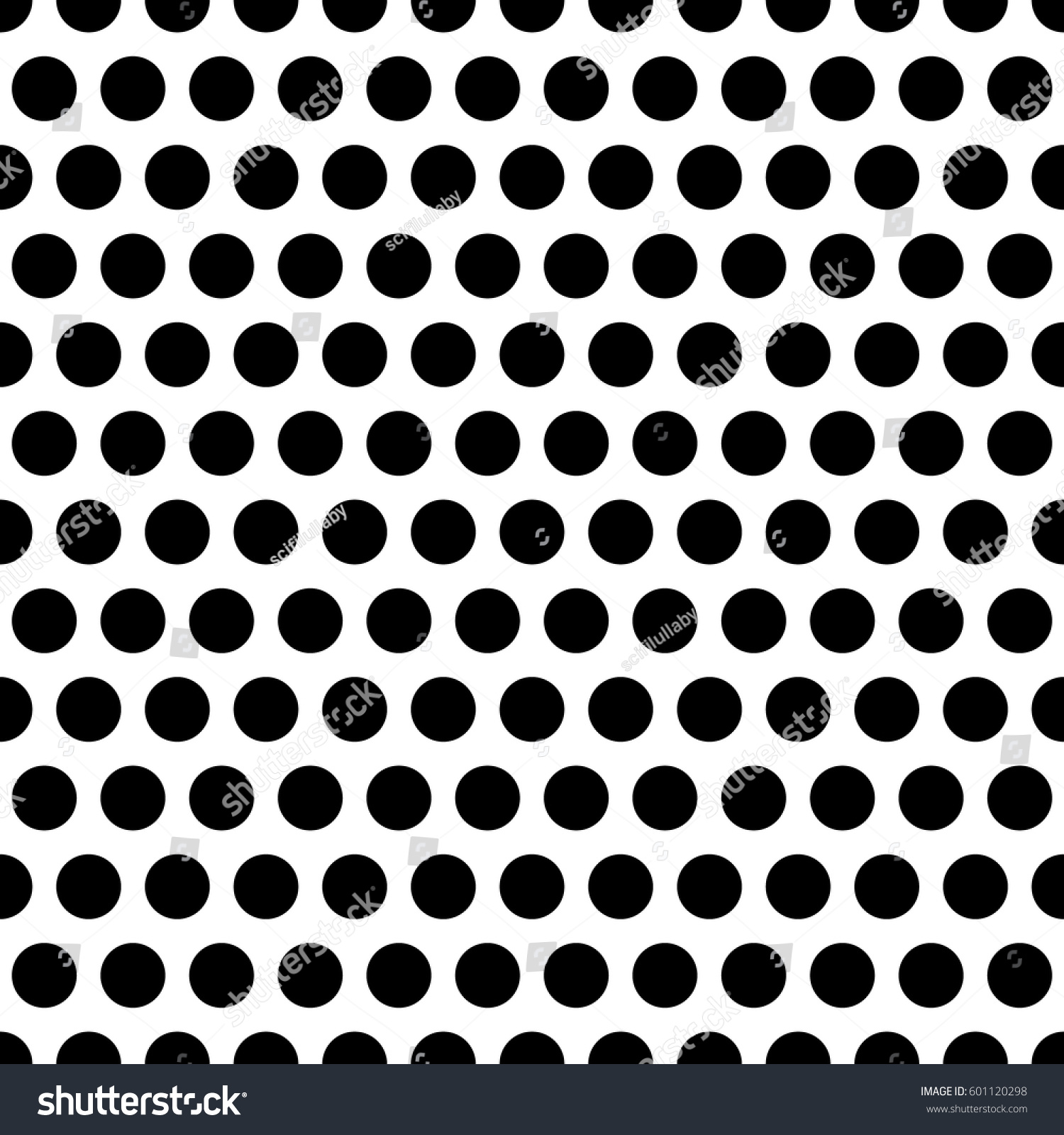 polka dot print vector seamless pattern stock vector