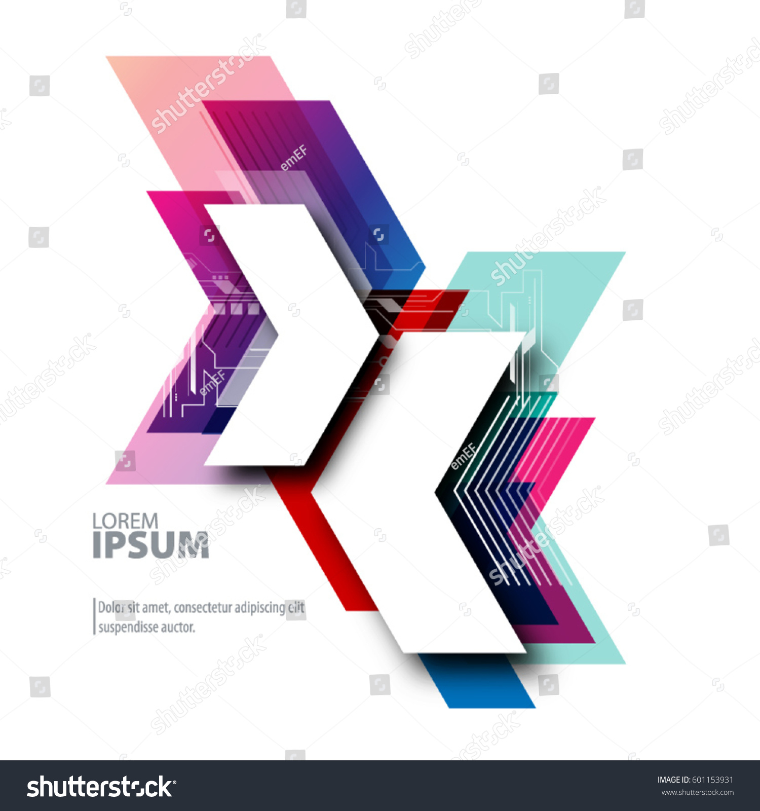 Abstract Template Clean Minimal Style Modern Stock Vector (Royalty ...