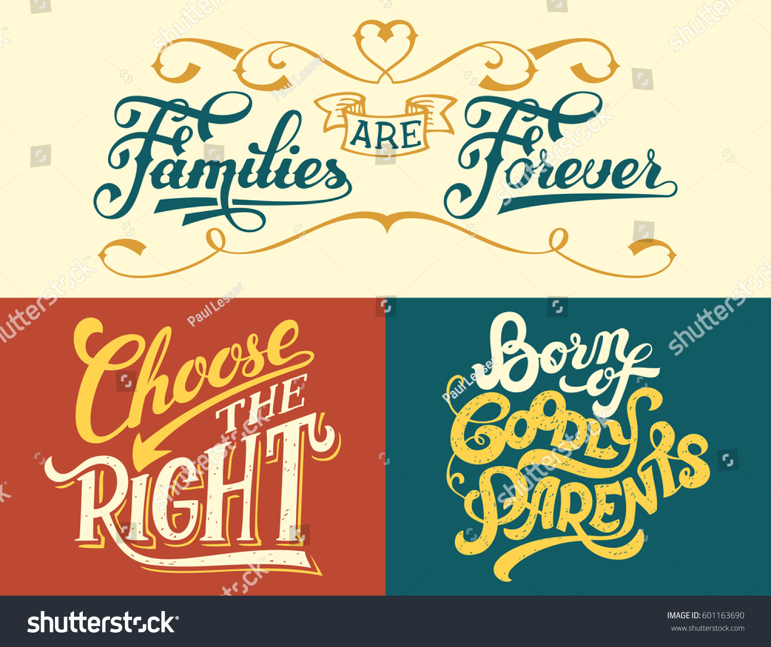 Family Is Forever Quotes Families Forever Born Goodly Parents Choose Stock Vector 601163690