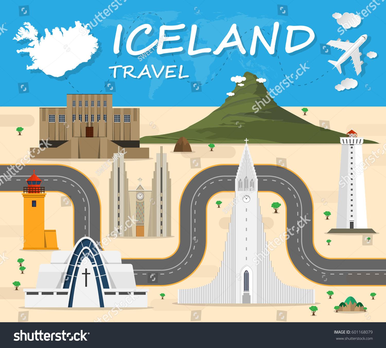 Iceland travel background landmark global travel stock for Landmark design