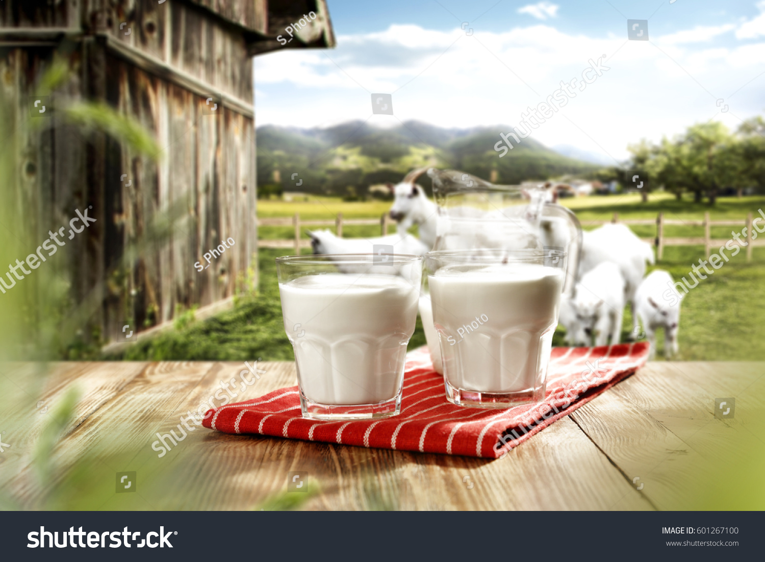 Desk Free Space Goats Stock Photo (Edit Now) 601267100
