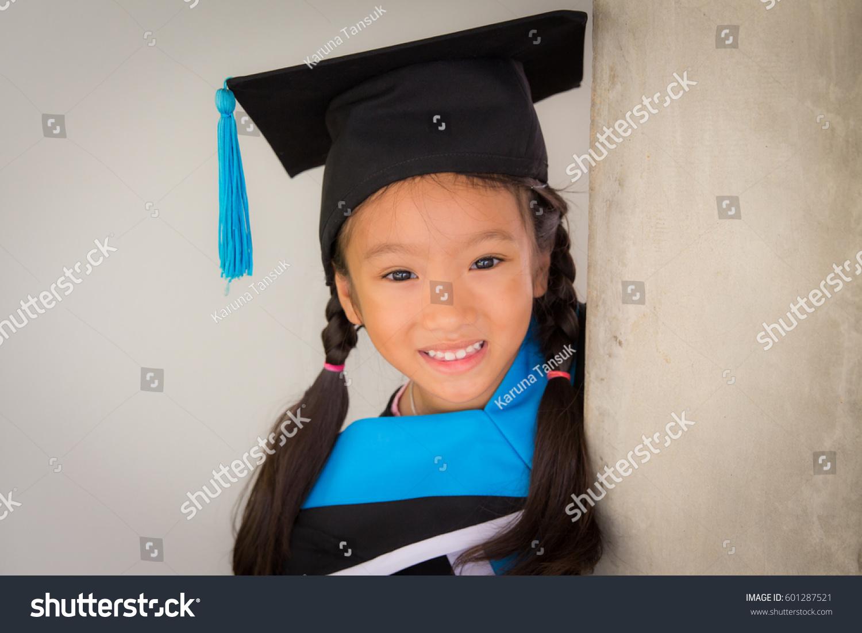 Happy Asian School Kid Graduate Graduation Stock Photo (Royalty Free ...