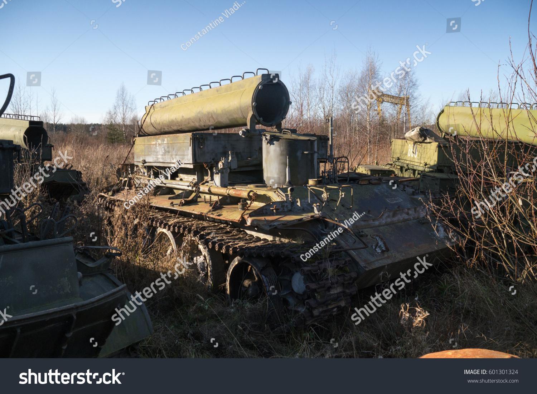 Royalty-free Armoured fighting vehicle junkyard.… #601301324 Stock ...