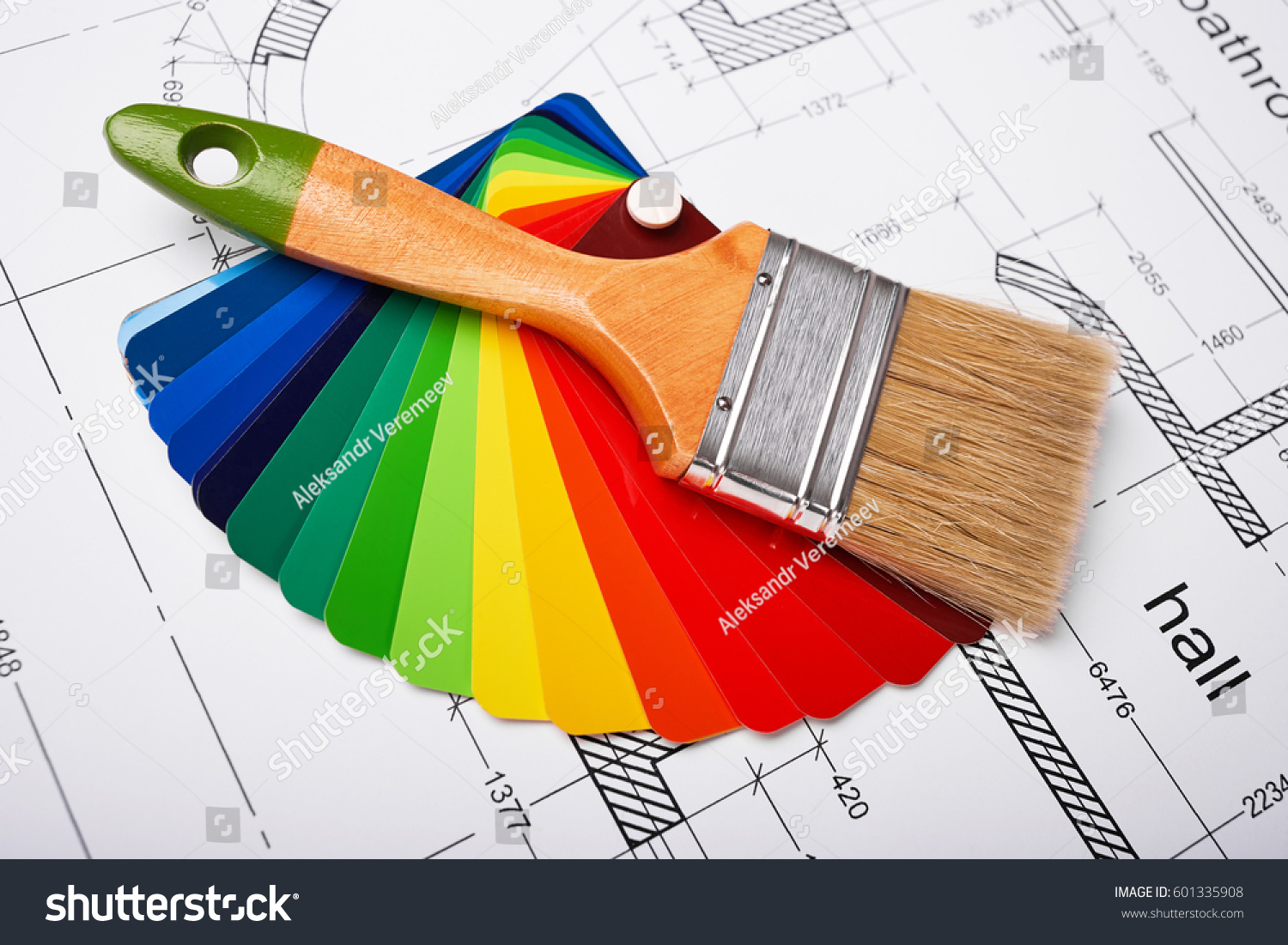 Construction building layout building drawing on stock for Paint planner