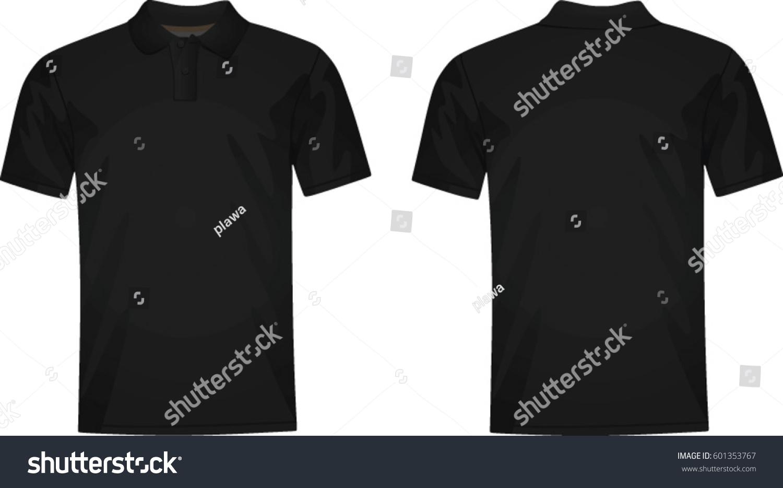 Black t shirt vector photoshop - Man Polo T Shirt Vector