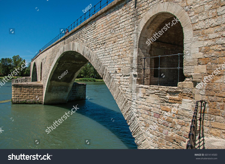 view arcs pont davignon bridge under stock photo 601414583 shutterstock. Black Bedroom Furniture Sets. Home Design Ideas