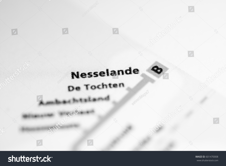 Nesselande Station Rotterdam Metro Map Stock Photo Royalty Free
