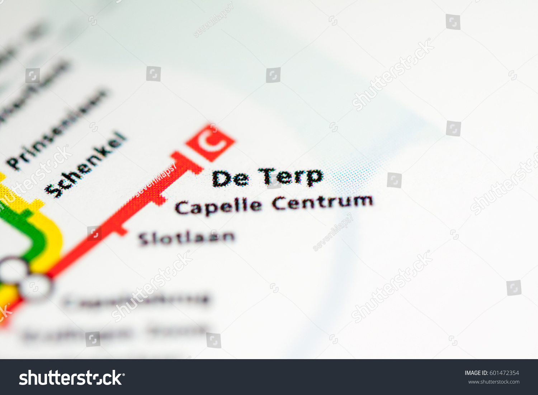 De Terp Station Rotterdam Metro Map Stock Photo 601472354 Shutterstock