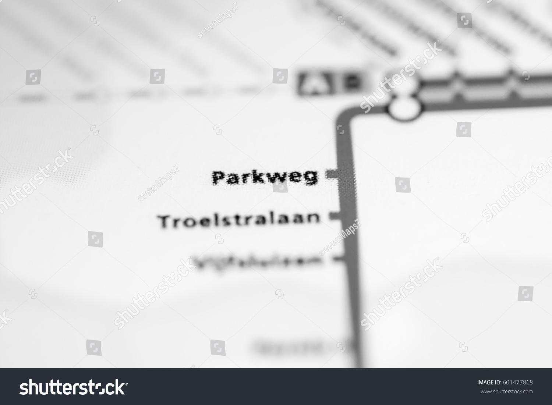 Parkweg Station Rotterdam Metro Map Stock Photo 601477868 Shutterstock