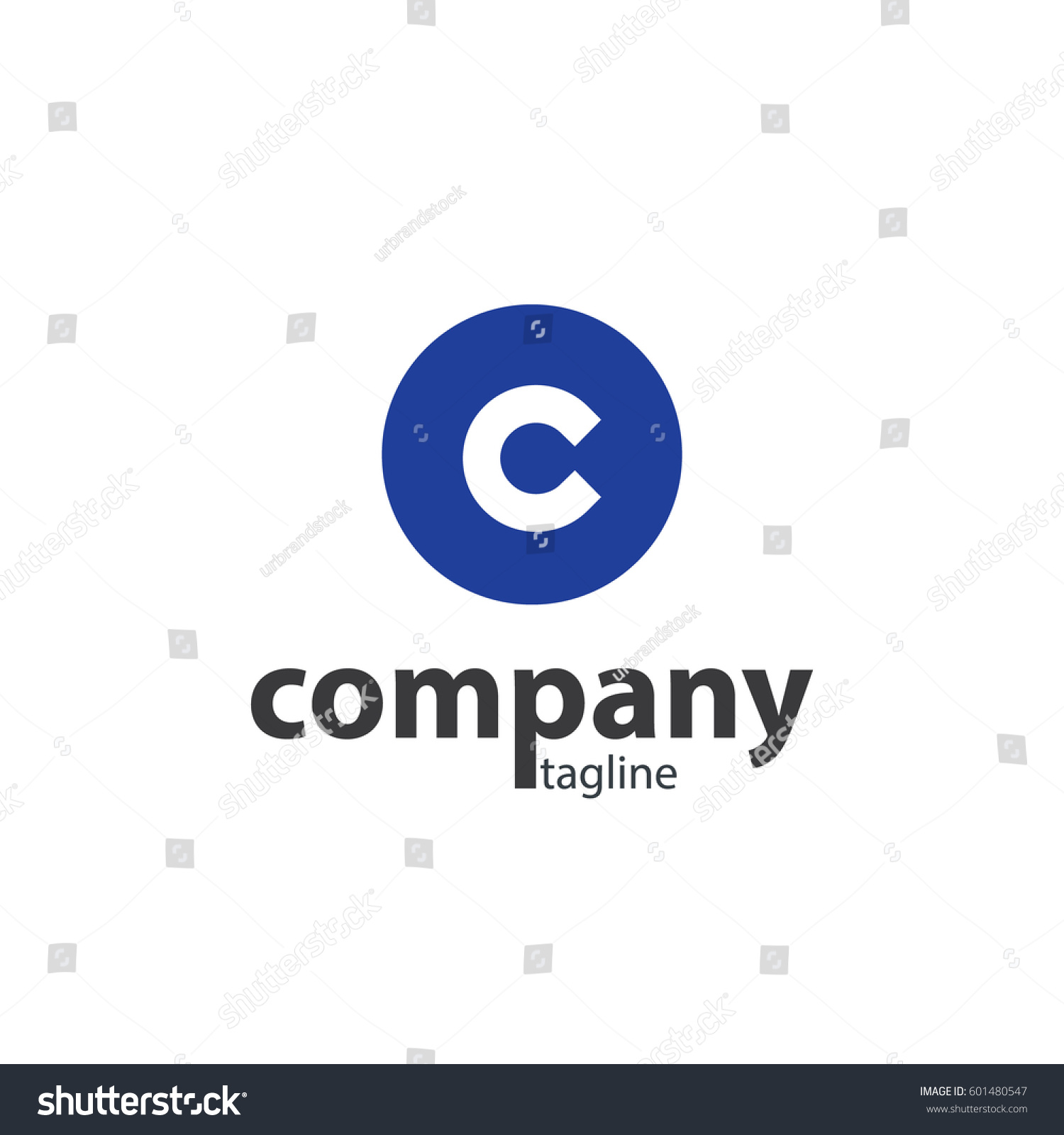 Initial letter c circle design logo stock vector 601480547 initial letter c with circle design logo biocorpaavc Images