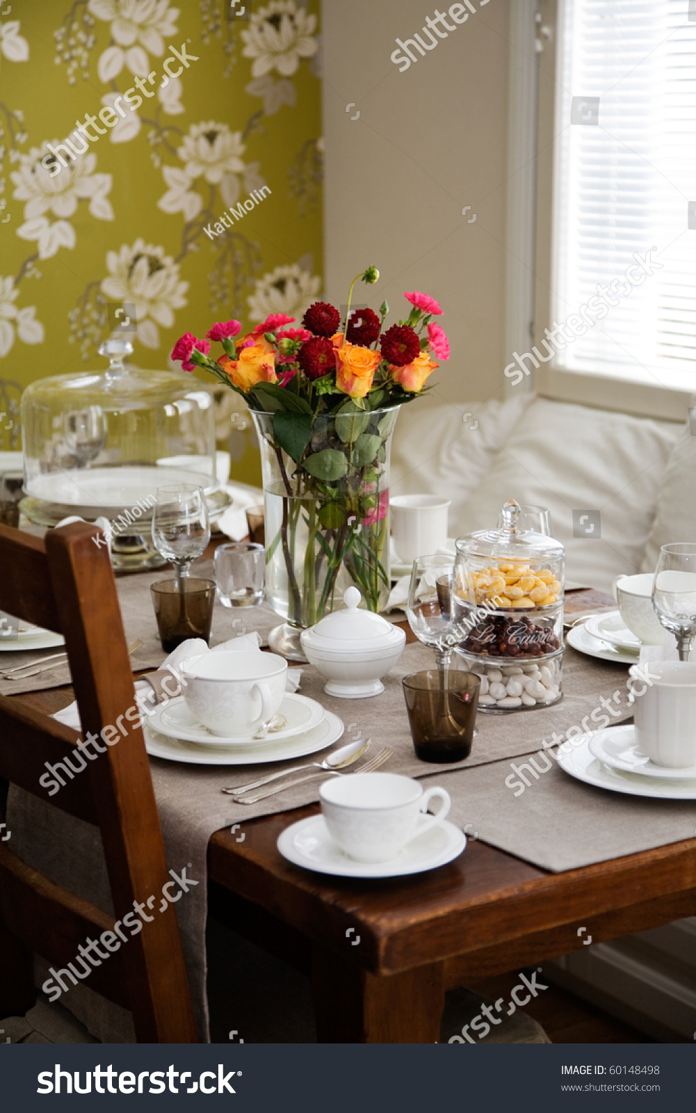 elegant table settings. Elegant Table Setting Afternoon Coffee Tea Stock Photo (Royalty Free) 60148498 - Shutterstock Settings