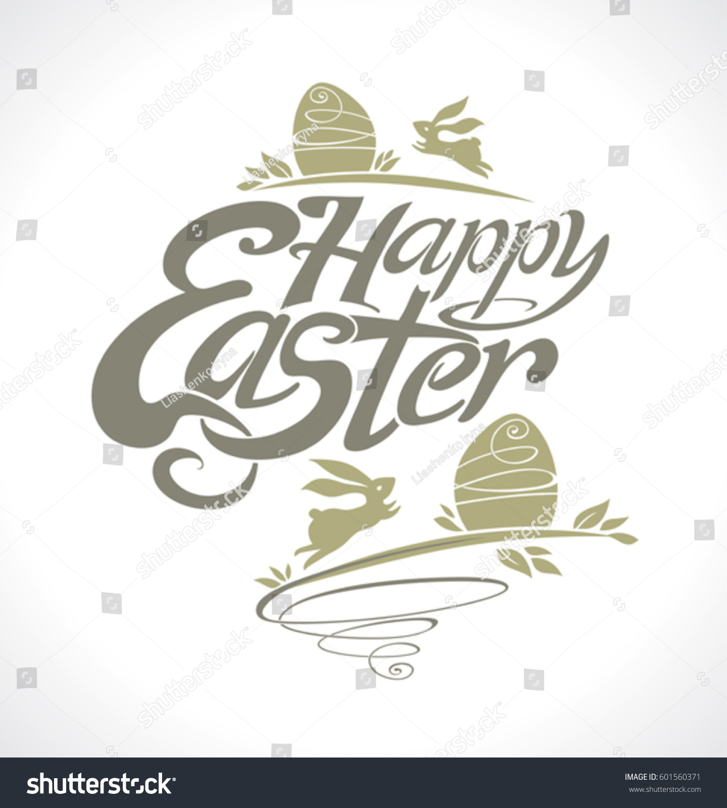 Happy easter lettering template holiday easter stock vector happy easter lettering template for holiday easter bunnies and gift eggs beautiful vector label negle Image collections