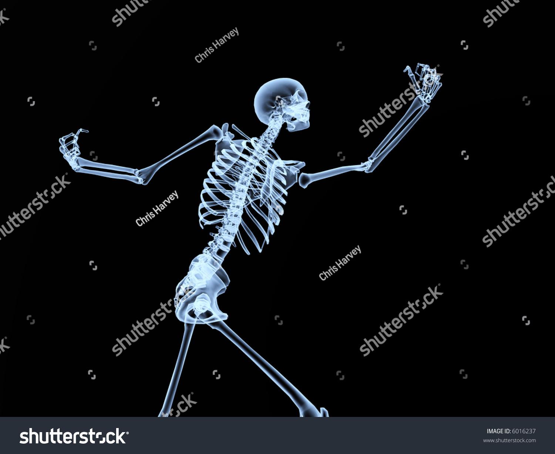 Image Xray Skeleton Good Halloween Possible Stock Illustration