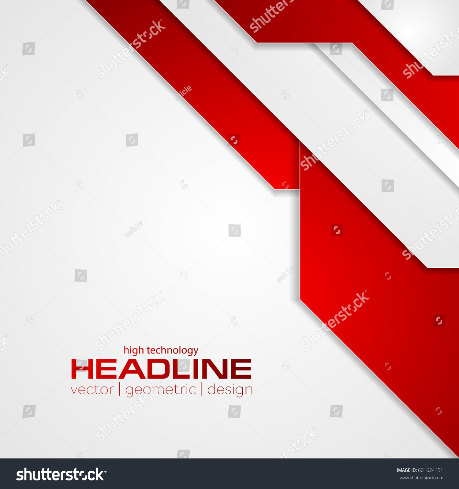 Abstract Red Tech Corporate Flyer Background Stock Vector 601624451 ...
