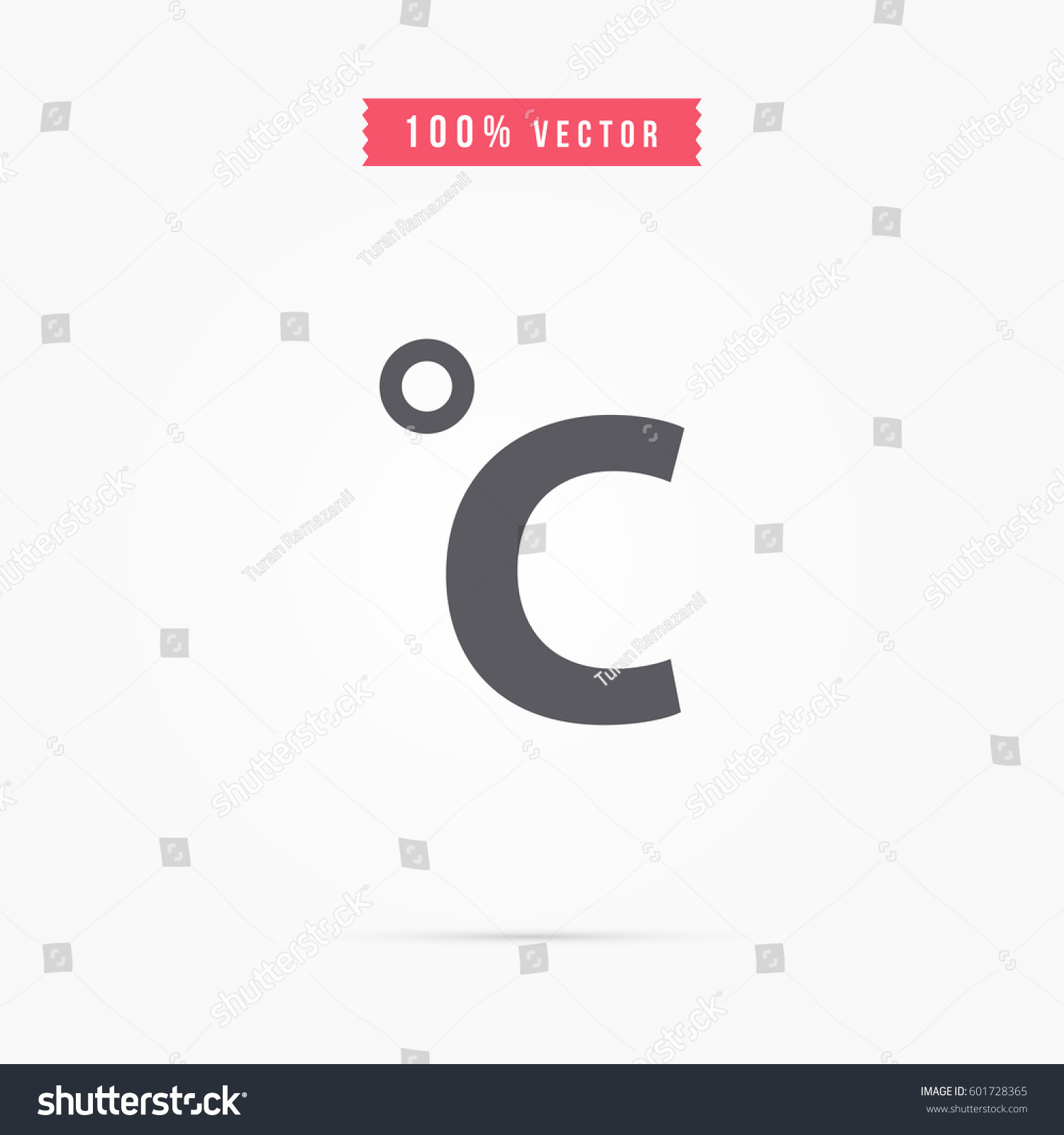 Celsius Degrees Symbol Stock Vector Royalty Free 601728365