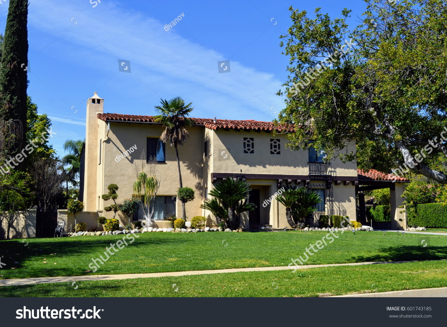 Luxury custom made houses mansions nicely stock photo for Custom mansions