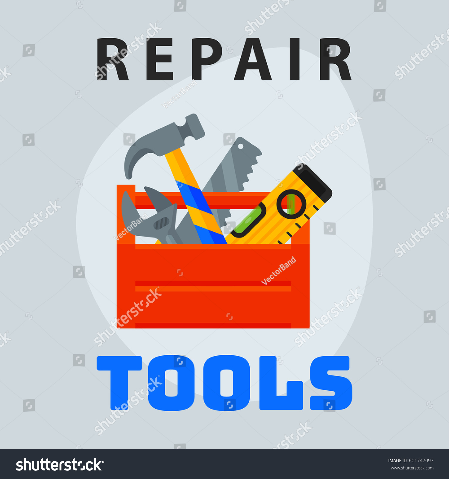 Repair tools box icon creative graphic stock vector 601747097 repair tools box icon creative graphic design logo element and service construction work business maintenance equipment buycottarizona Gallery
