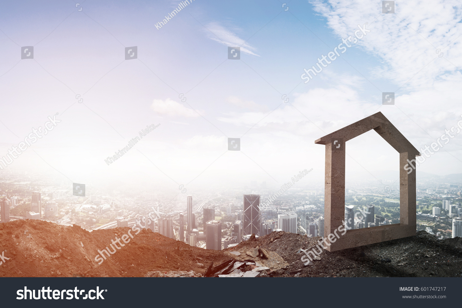 House stone figure symbol construction real stock photo 601747217 house stone figure as symbol of construction and real estate outdoors buycottarizona Image collections