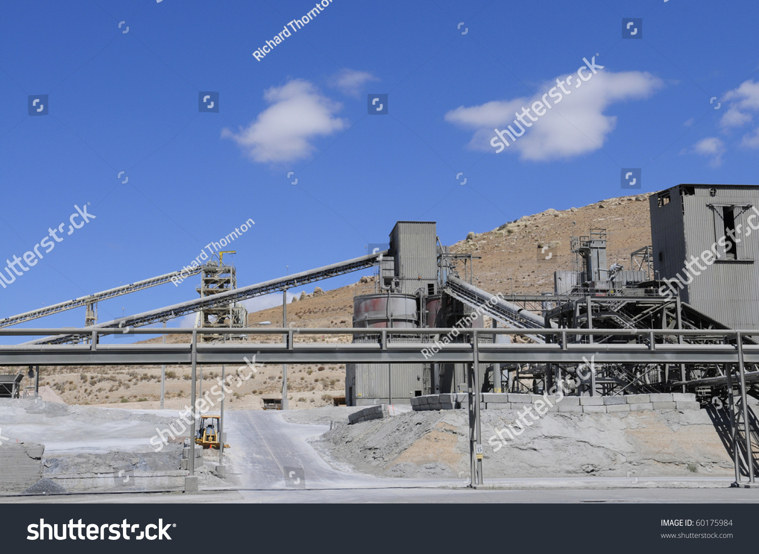Cement Manufacturing Plants : Partial view of large california cement manufacturing