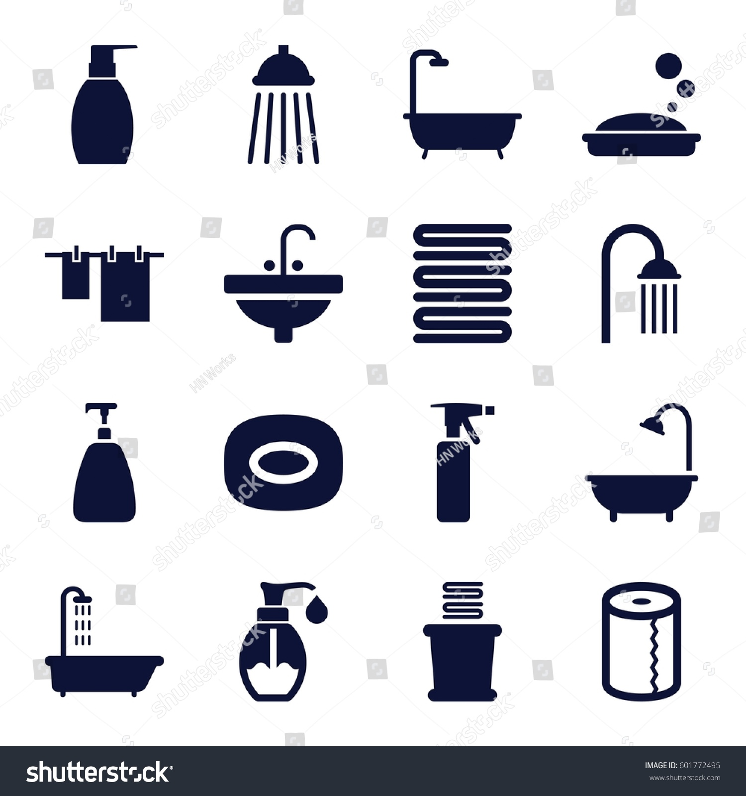bath icons set set 16 bath stock vector 601772495 shutterstock bath icons set set of 16 bath filled icons such as shower spray bottle