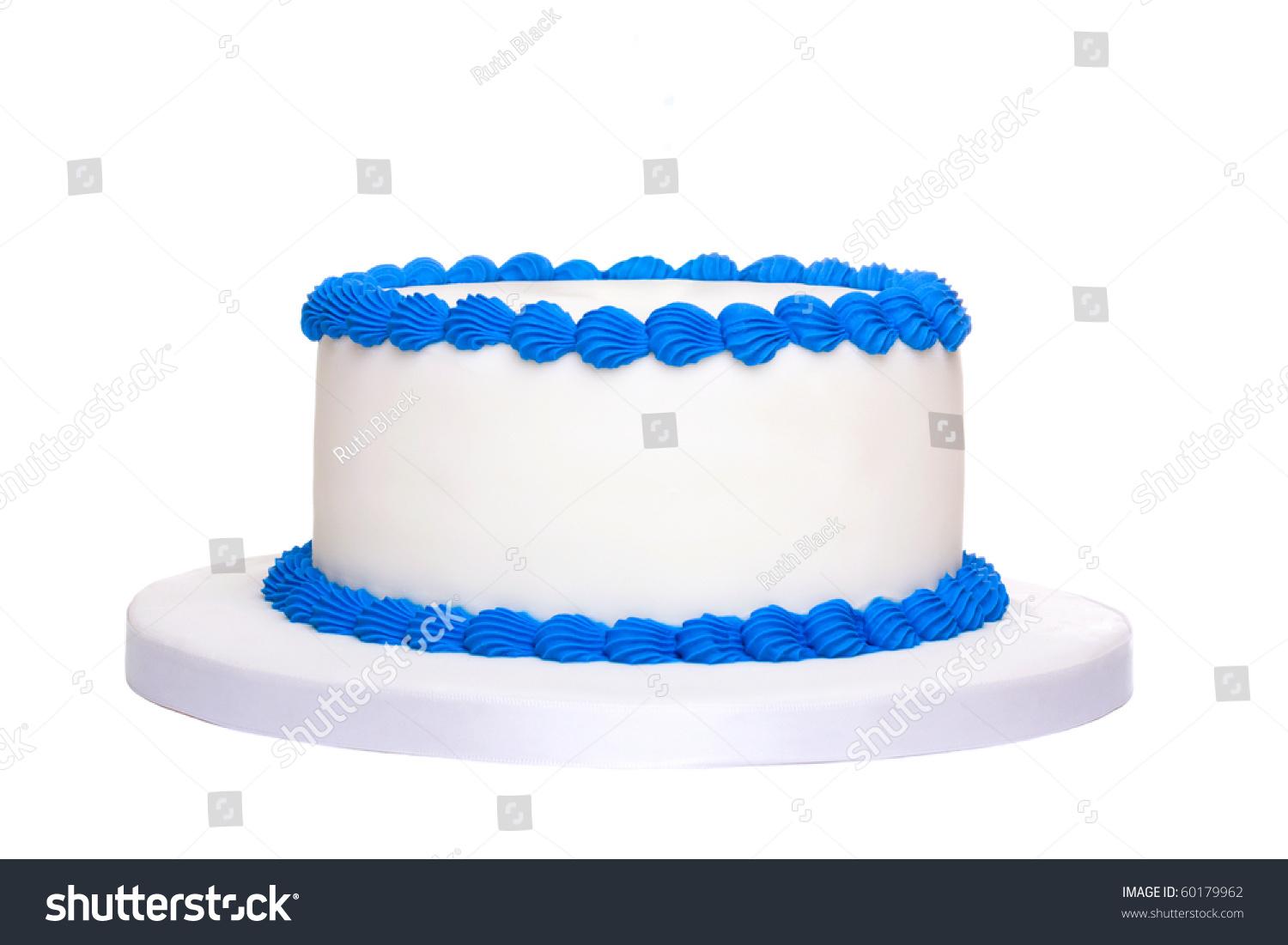 Blank Birthday Cake Stock Photo 60179962 Shutterstock