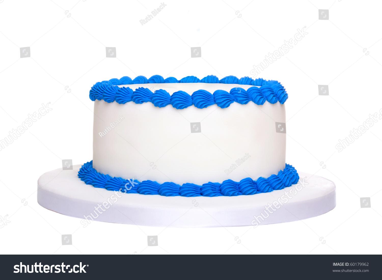 Blank Birthday Cake Stock Photo 60179962 Shutterstock