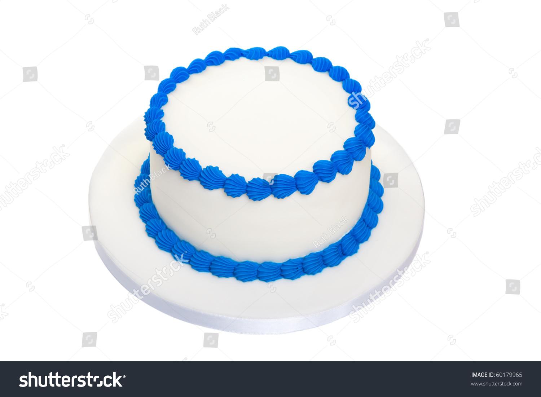 Blank Birthday Cake Stock Photo 60179965 - Shutterstock