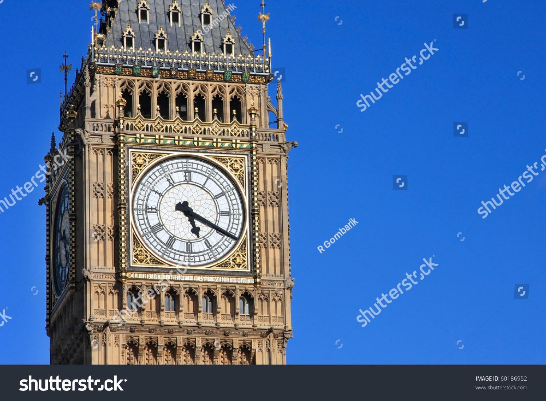 Famous big ben clock tower london imagen de archivo stock 60186952 famous big ben clock tower in london uk malvernweather Choice Image