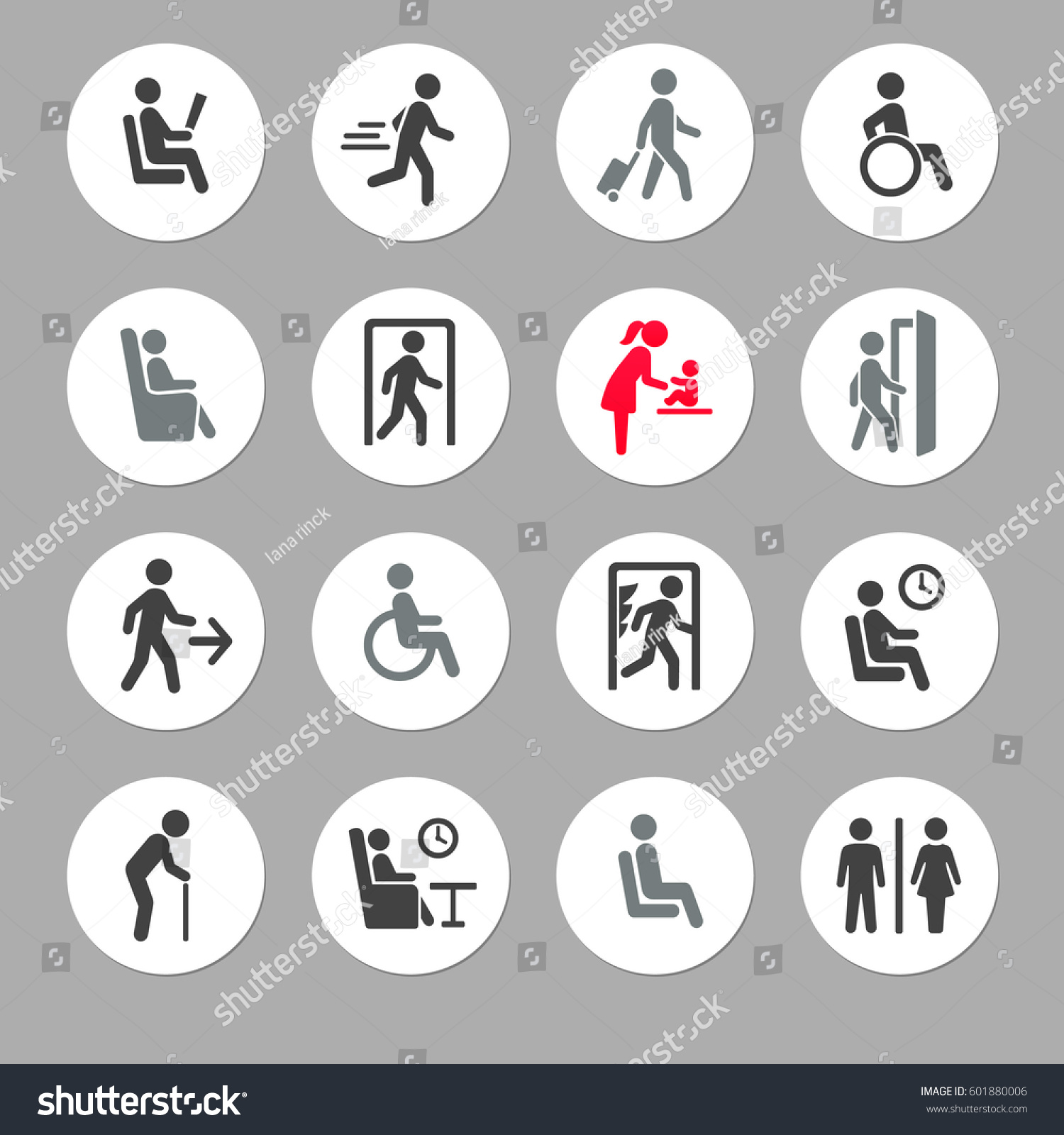 People Symbols Signs Stock Vector Royalty Free 601880006