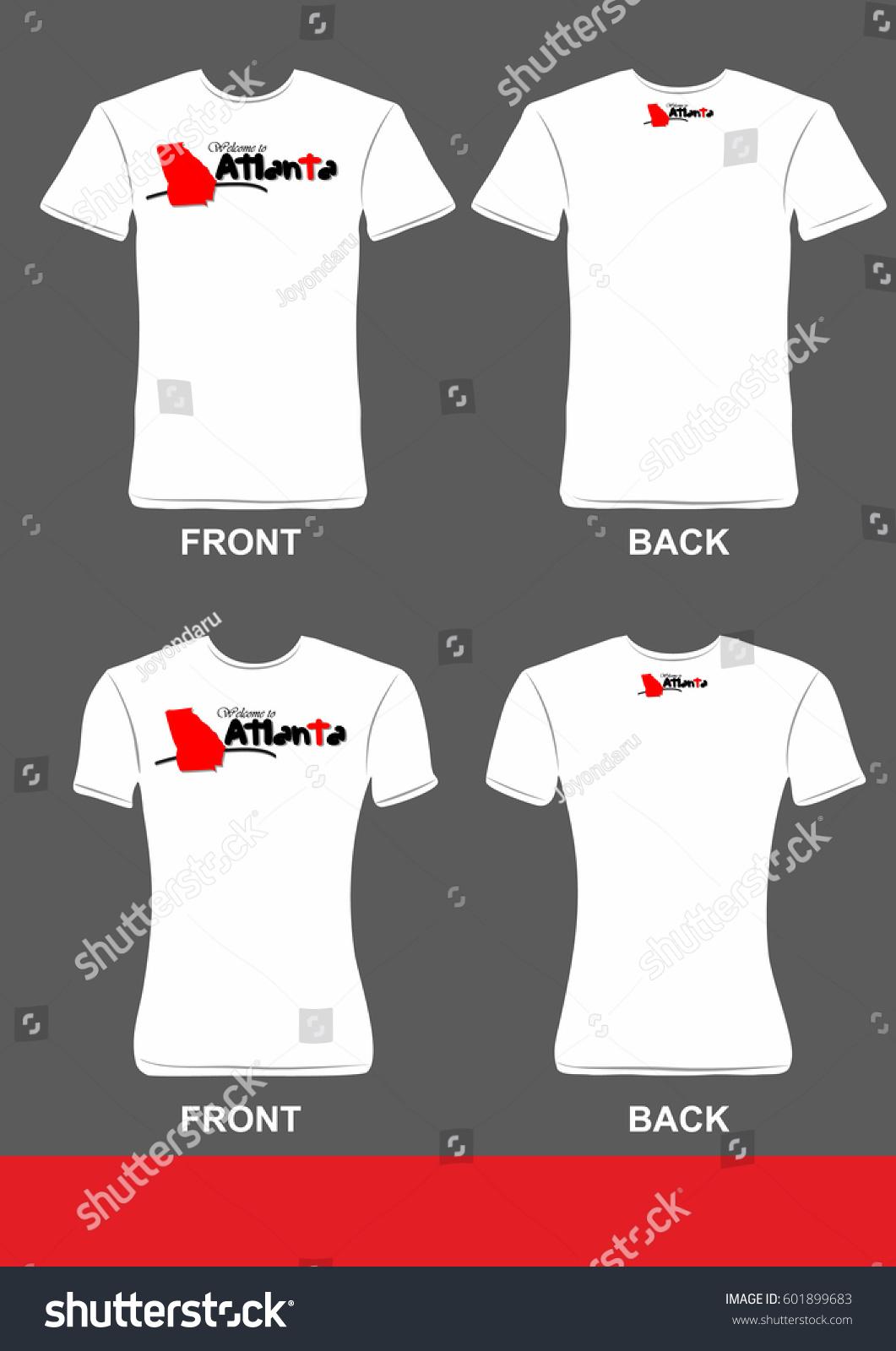 Simple T Shirt Design Welcome Atlanta Stock Vector Royalty Free