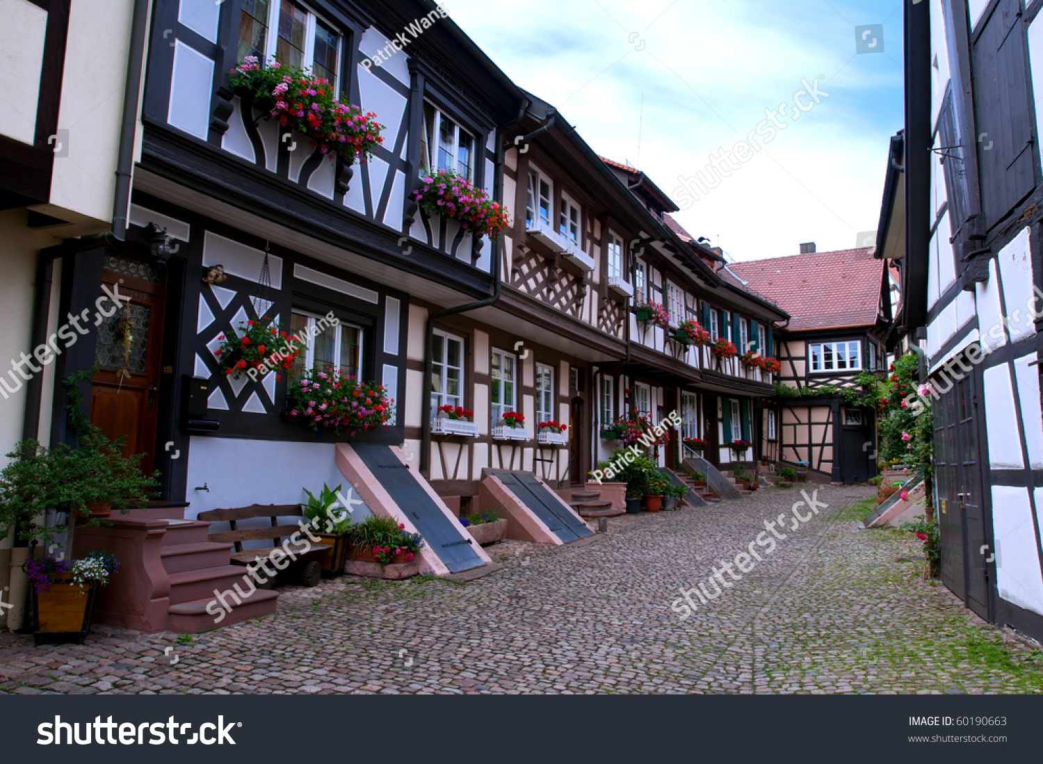 Traditional Old German Houses Timber Framing Stockfoto (Lizenzfrei ...