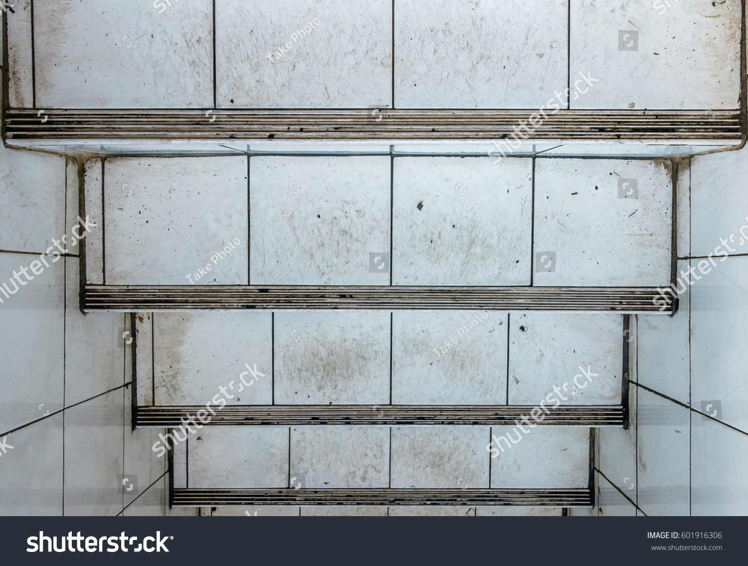 Old Stairs Underground Old Tiled Wall Stock Photo & Image (Royalty ...