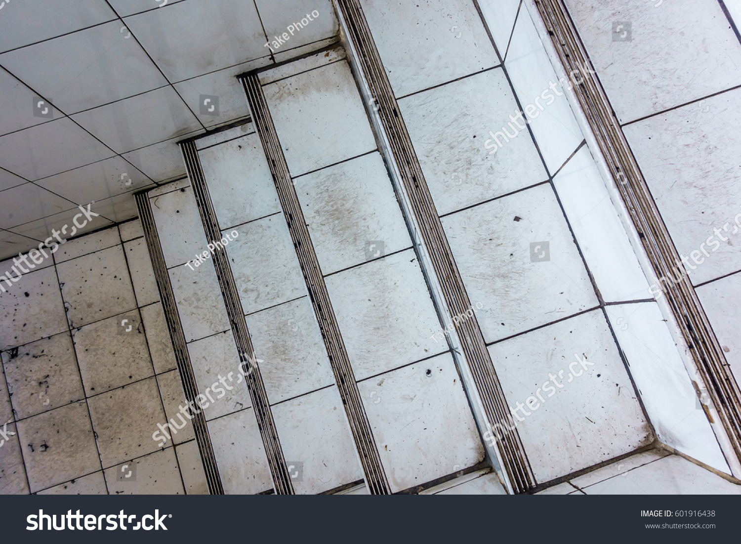 Old Stairs Underground Old Tiled Wall Stock Photo (Royalty Free ...