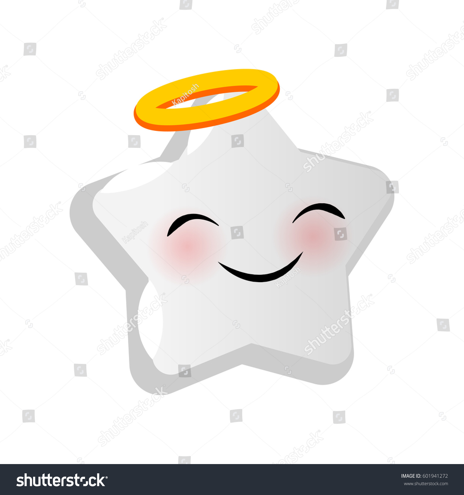 emotional angel faces star smiles vector stock vector royalty free