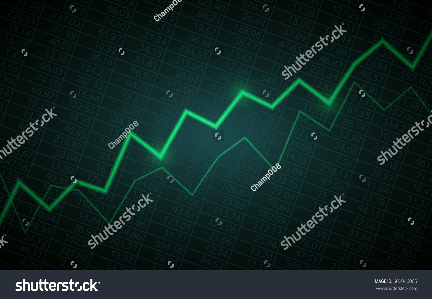 Abstract Financial Chart Uptrend Line Graph Stock Vector 602046065 ...