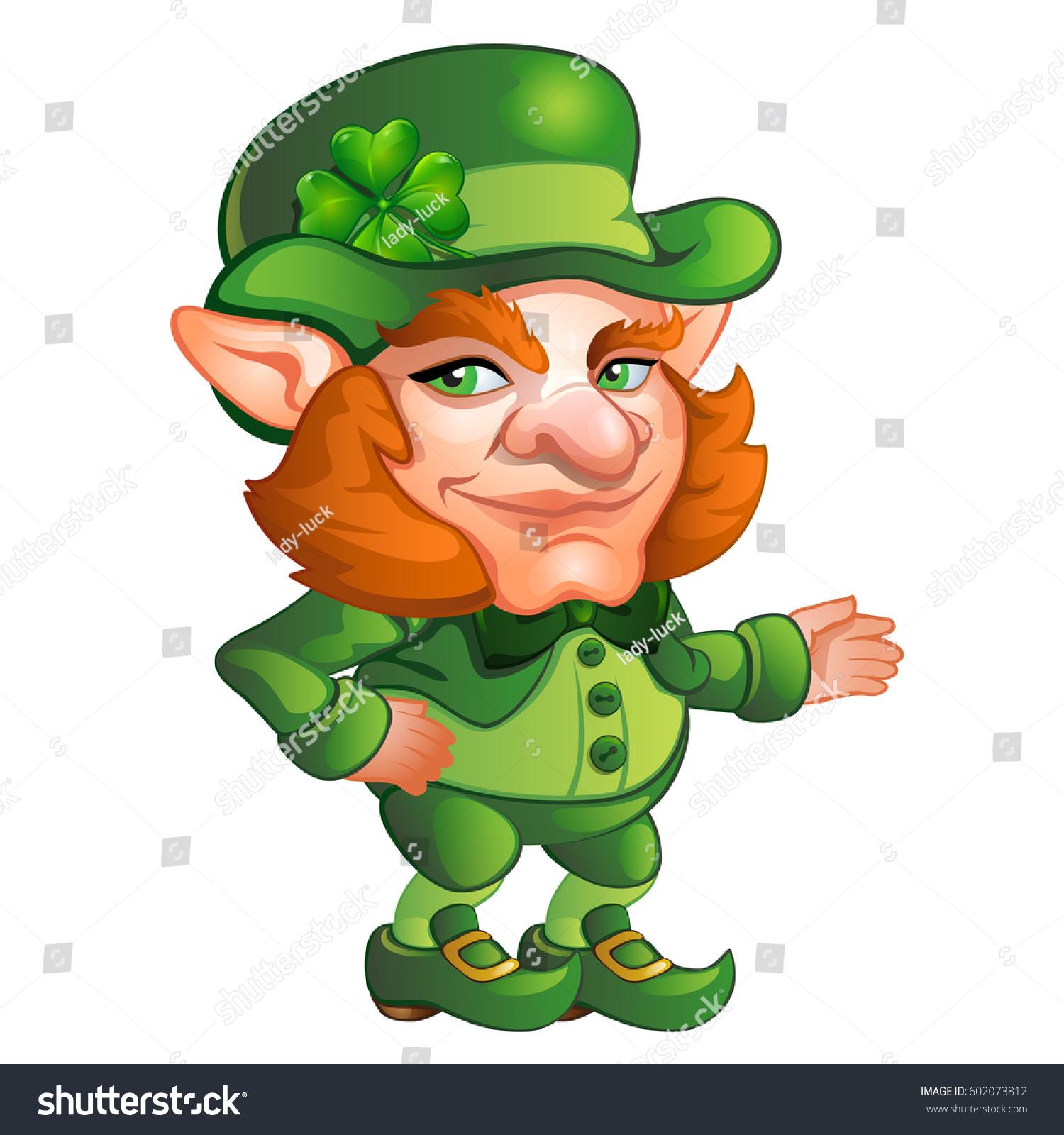 Uncategorized Animated Leprechaun cartoon animated old men leprechaun isolated stock vector on white background saint patricks day character with