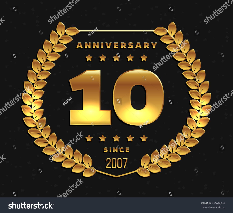 Ten Years Anniversary Banner 10th Anniversary Stock Vector Royalty