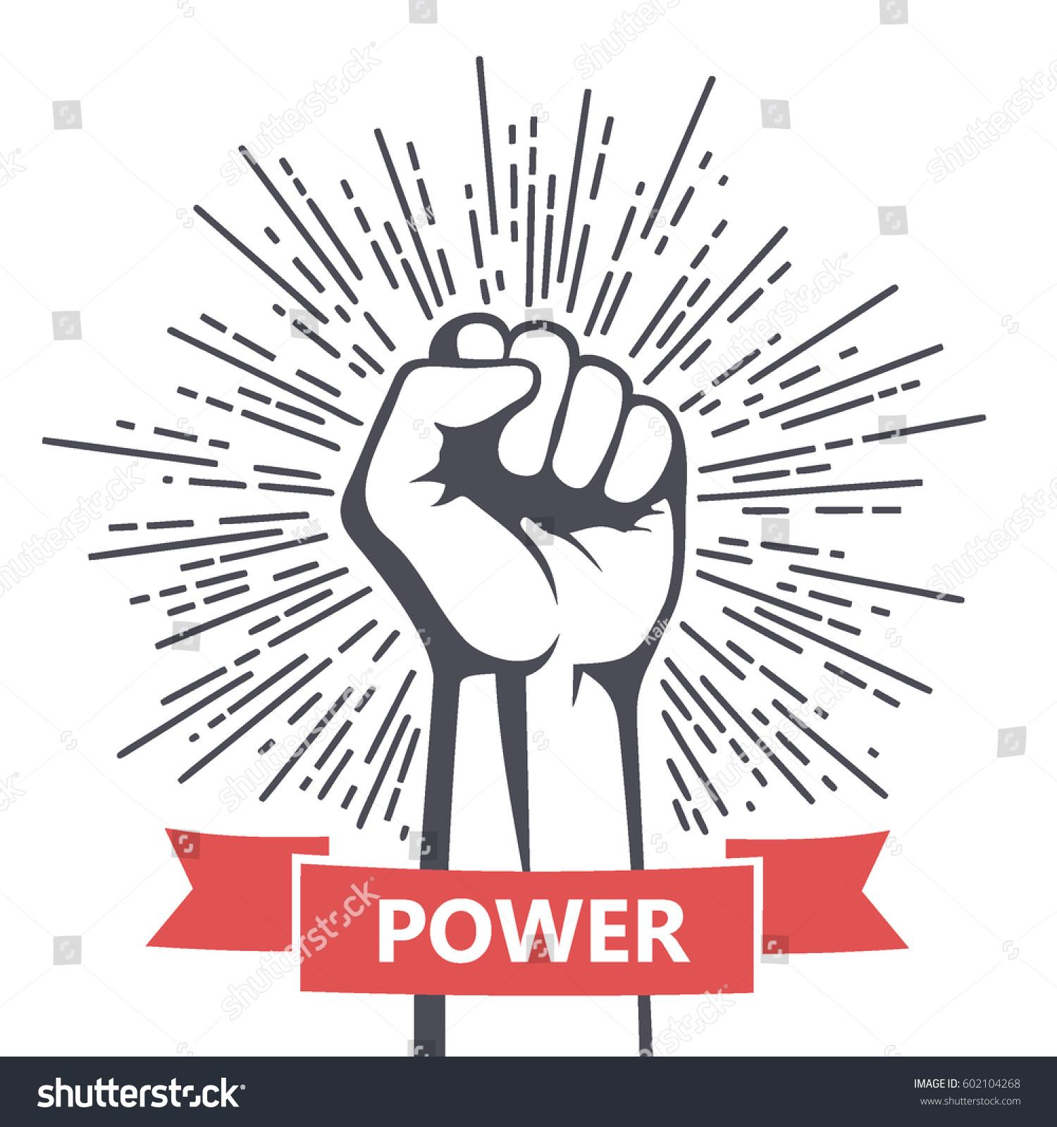 Fist Male Hand Proletarian Protest Symbol Stock Vector 602104268 ...