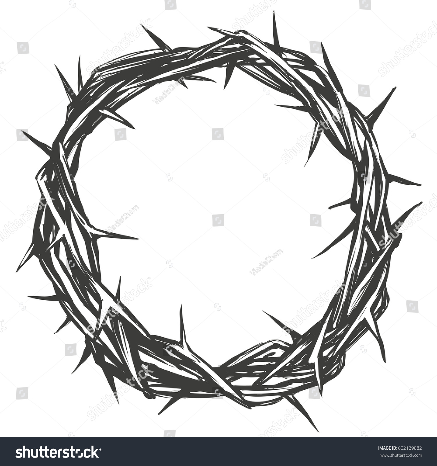 Crown thorns easter religious symbol christianity stock vector crown of thorns easter religious symbol of christianity hand drawn vector illustration sketch logo buycottarizona Gallery