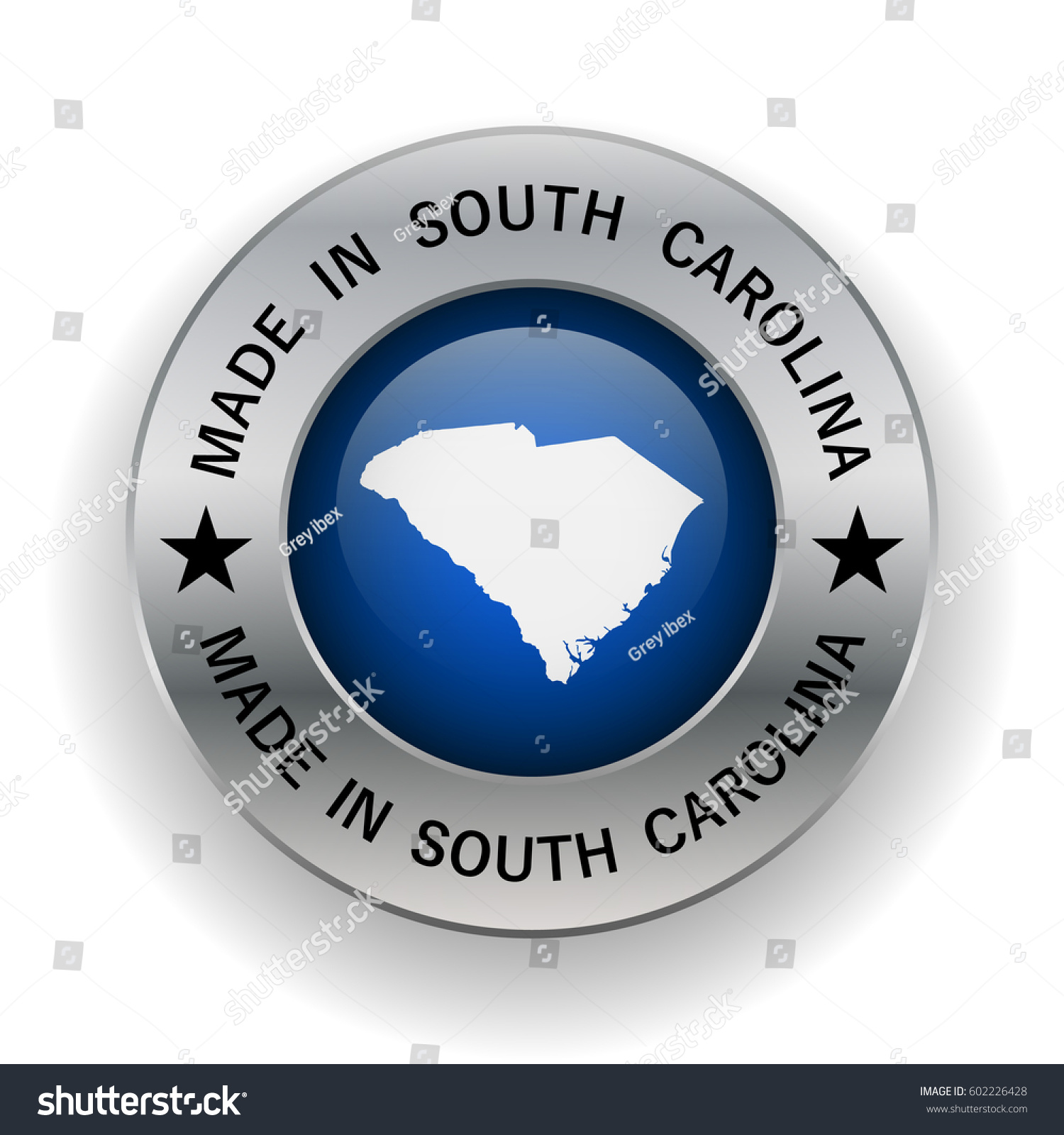 Stamp Made South Carolina Symbol State Stock Vector 602226428