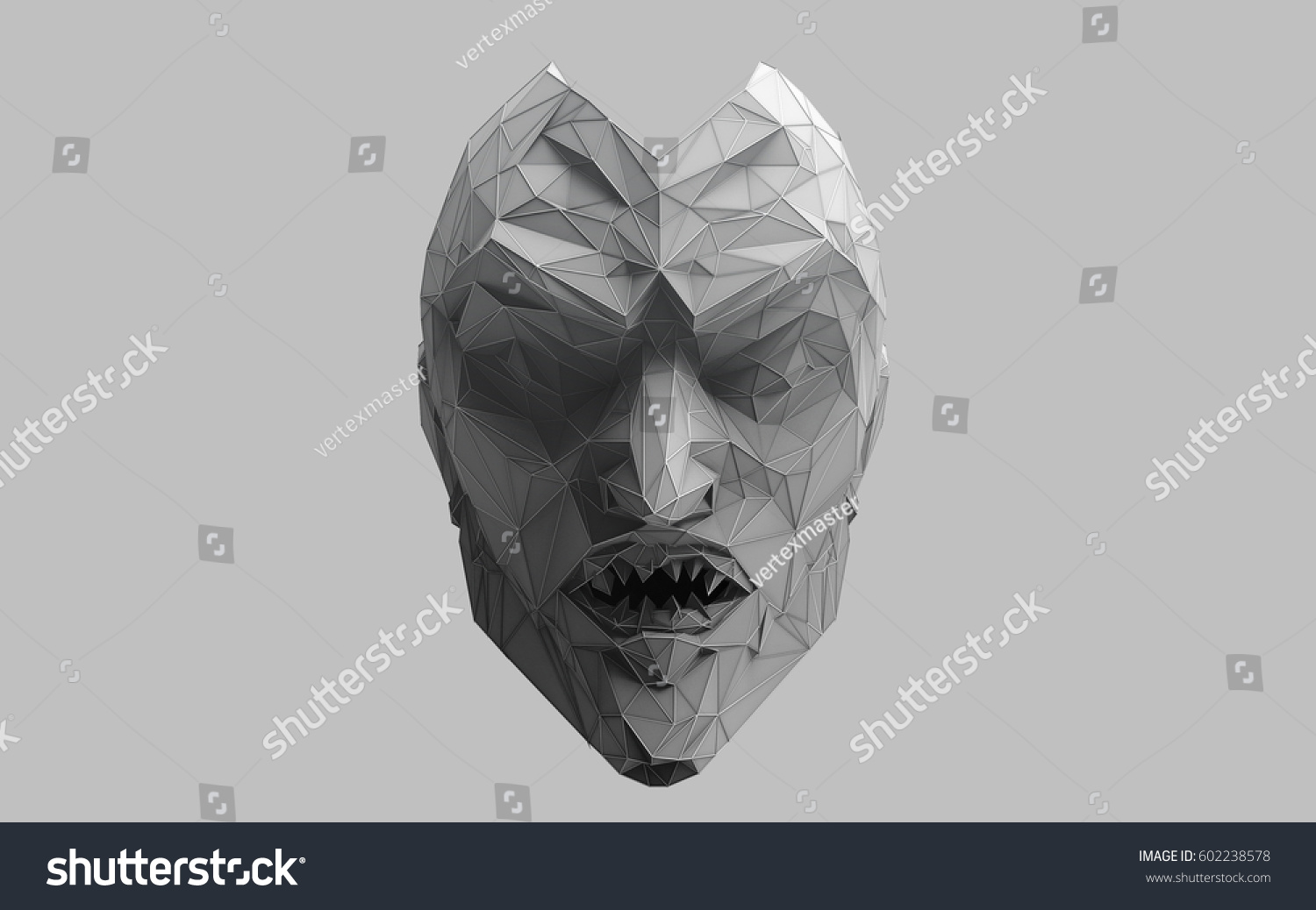 3 D WIRE FRAME ABSTRACT FLAT Shaded Stock Illustration 602238578 ...