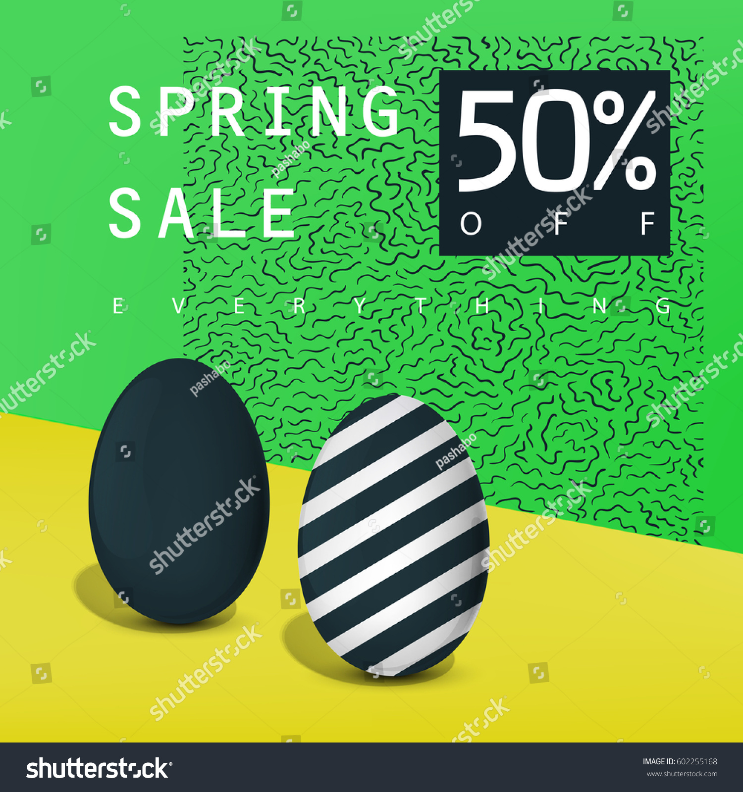 Spring sale poster sale badge advertising stock vector 602255168 advertising card template pronofoot35fo Images