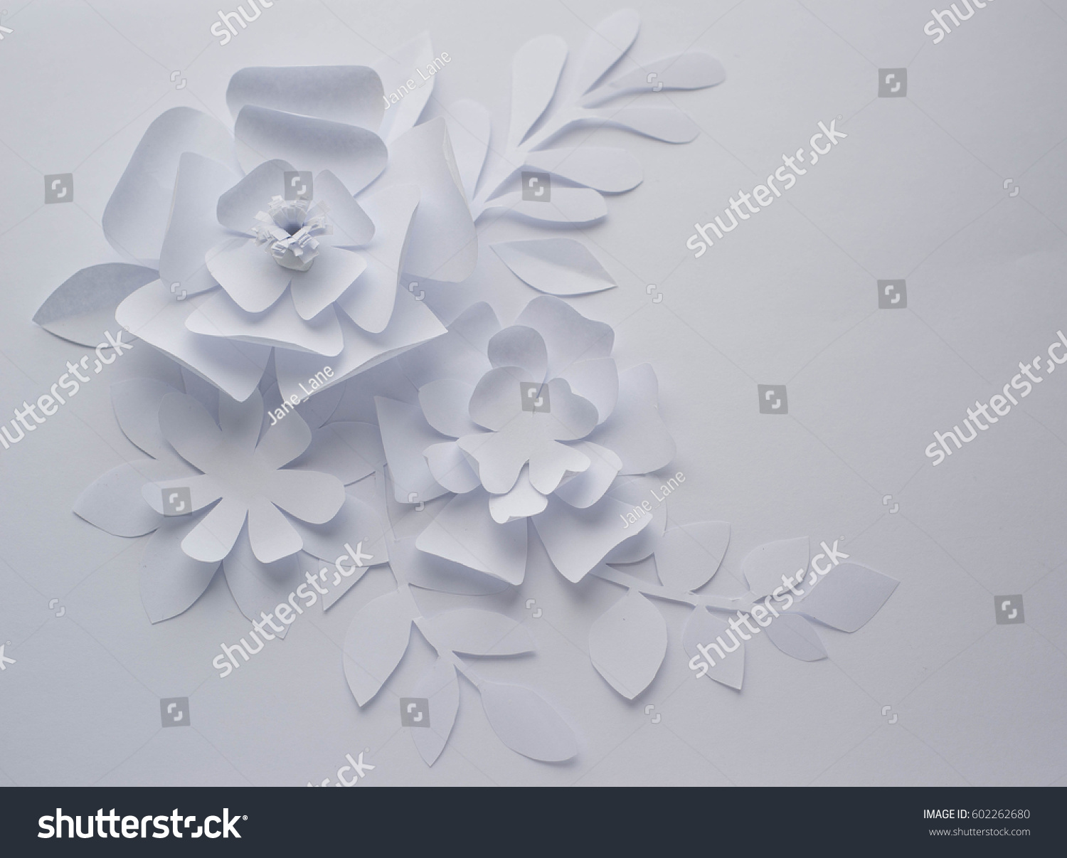 Paper Flower On White Background Paper Stock Photo Edit Now