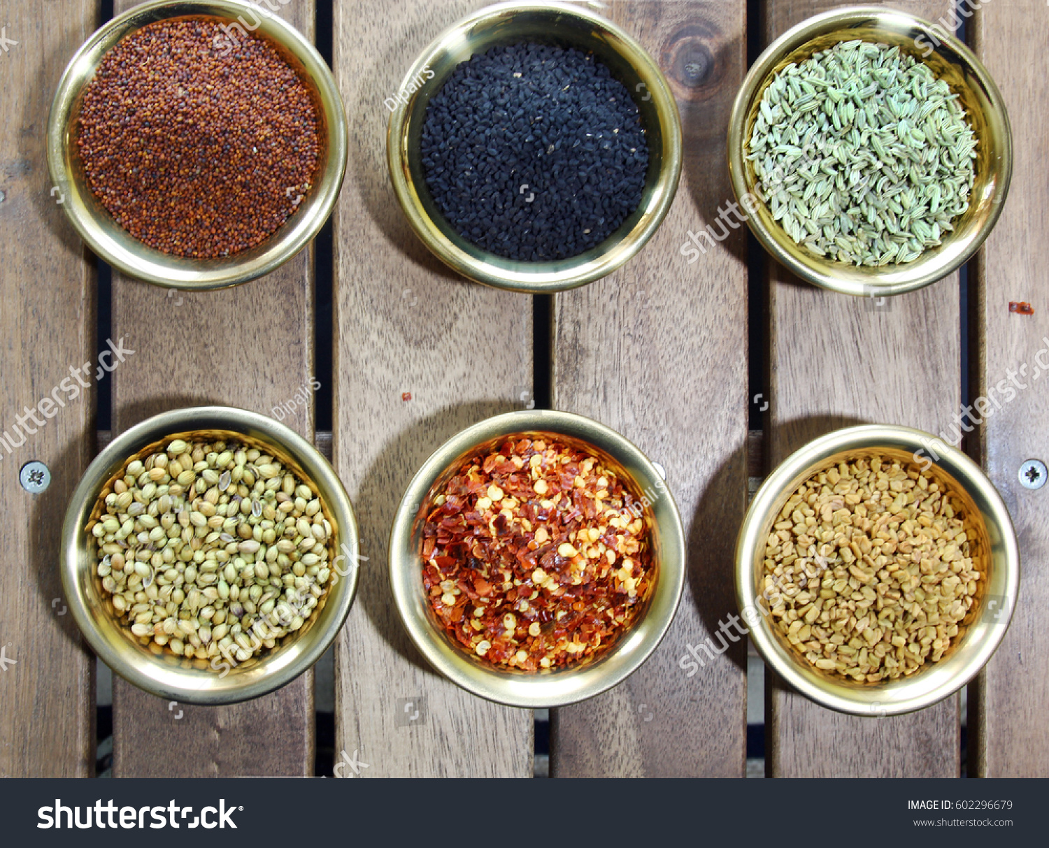 bowls spices containing mustard nigella fennel stock photo 602296679 shutterstock. Black Bedroom Furniture Sets. Home Design Ideas