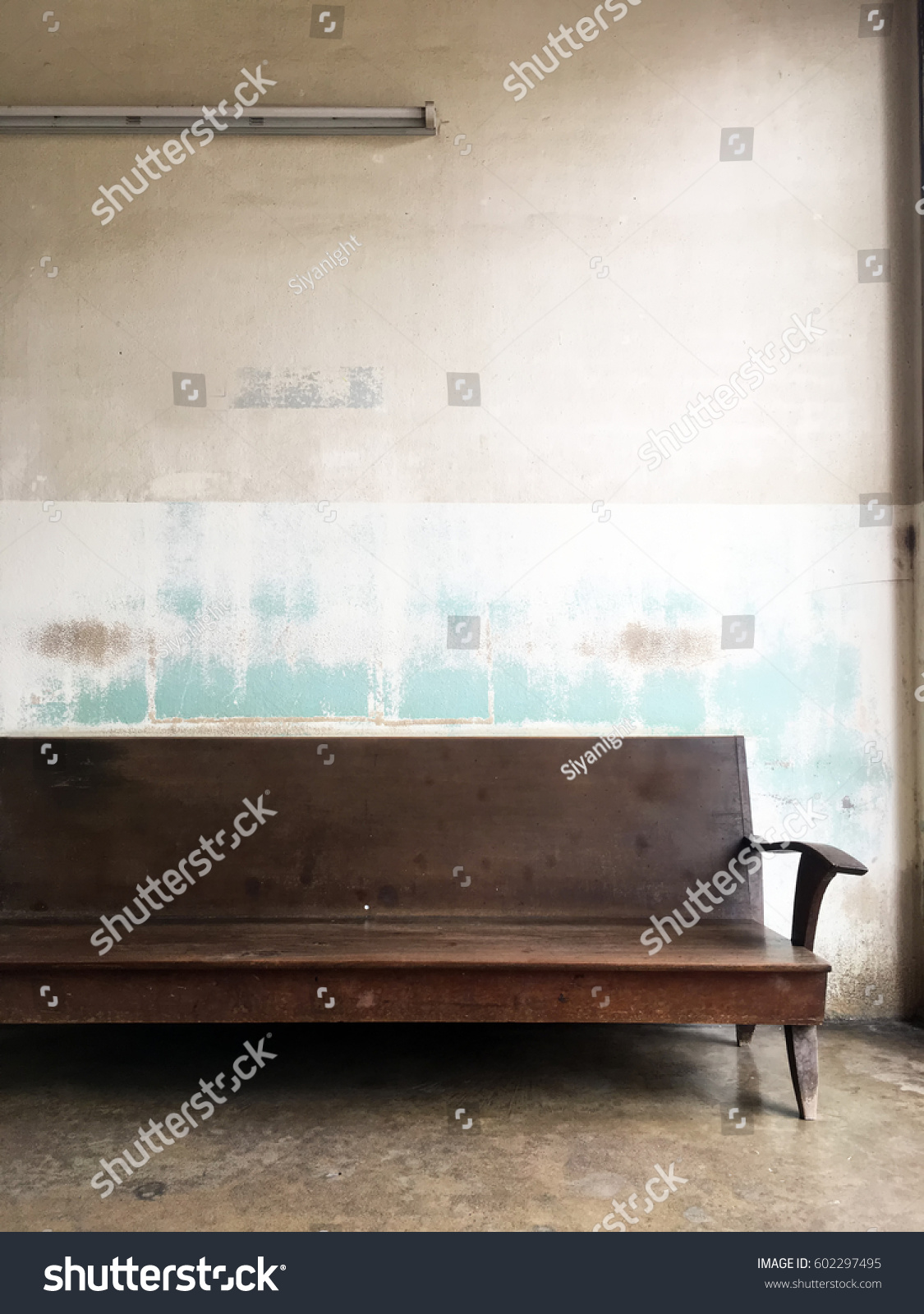 Vintage Bench Furniture Living Room Old Stock Photo (Royalty Free ...