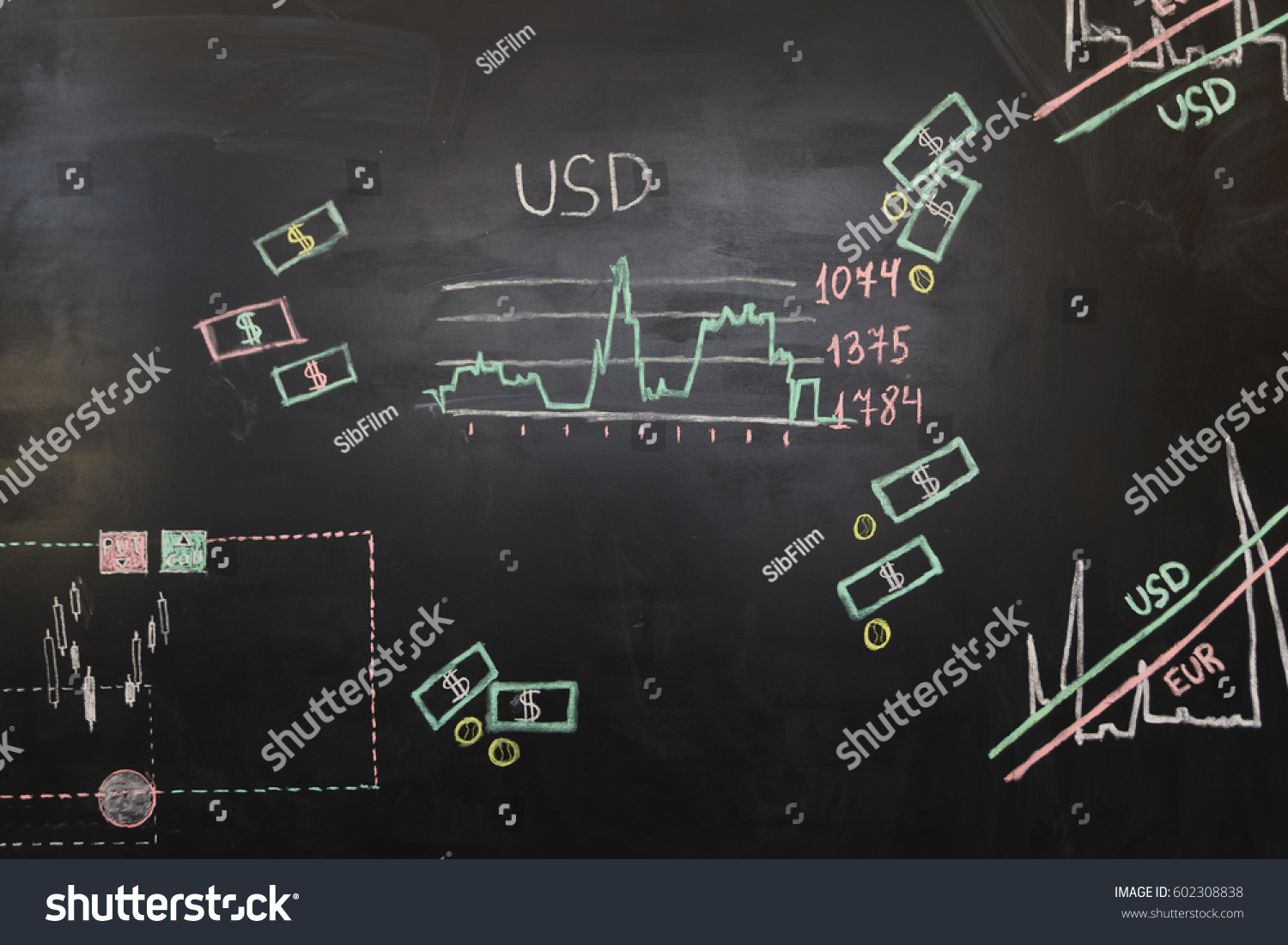 Finance Quotes Data Analyzing Foreign Finance Market Charts Stock Photo 602308838