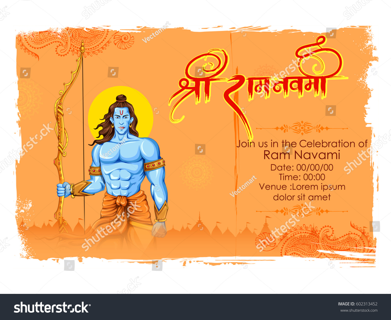 Illustration Lord Rama Bow Arrow Ram Stock Vector
