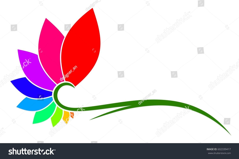 Flower Logo Stock Vector 602339417 Shutterstock