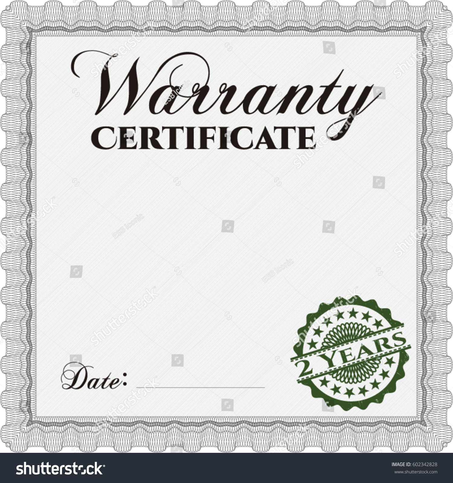 Vector illustration sample warranty certificate vector stock vector vector illustration of sample warranty certificate vector illustration excellent complex design with guillotine yadclub Gallery