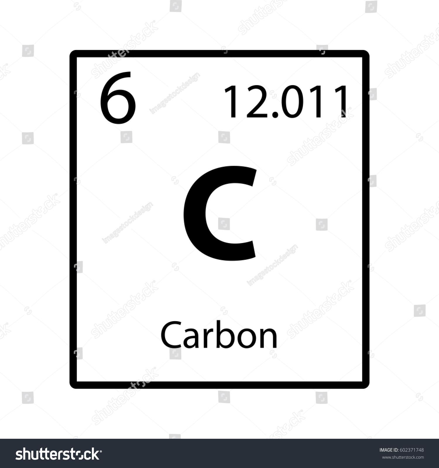 Carbon periodic table element icon on stock vector 602371748 carbon periodic table element icon on white background vector buycottarizona